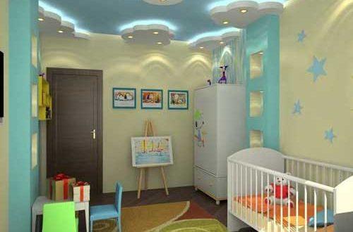 صور ديكورات جبس غرف نوم اطفال , افكار جديده لديكور الجبس بورد لغرف الاطفال