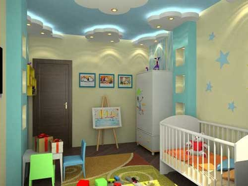 صورة ديكورات جبس غرف نوم اطفال , افكار جديده لديكور الجبس بورد لغرف الاطفال