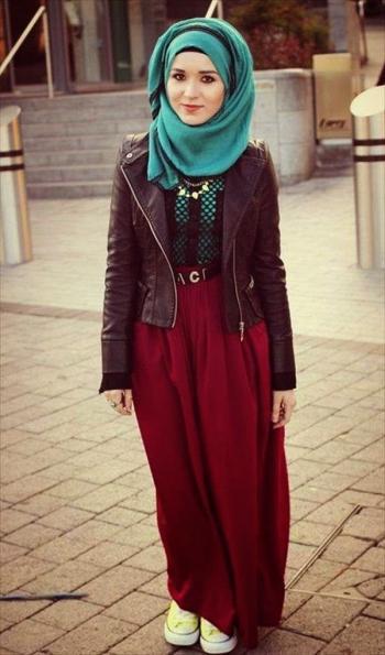 صورة ملابس شتوية للمحجبات , احدث ملابس الشتاء للمحجبات 2674 2
