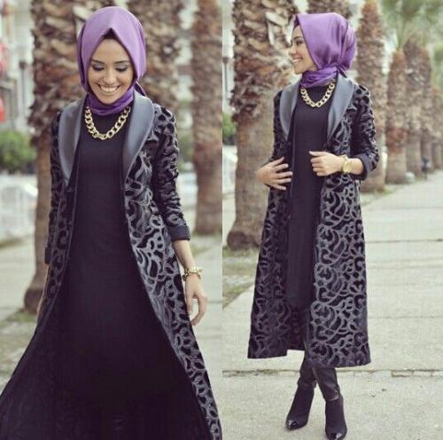 صورة ملابس شتوية للمحجبات , احدث ملابس الشتاء للمحجبات 2674 5
