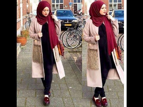 صورة ملابس شتوية للمحجبات , احدث ملابس الشتاء للمحجبات 2674 9