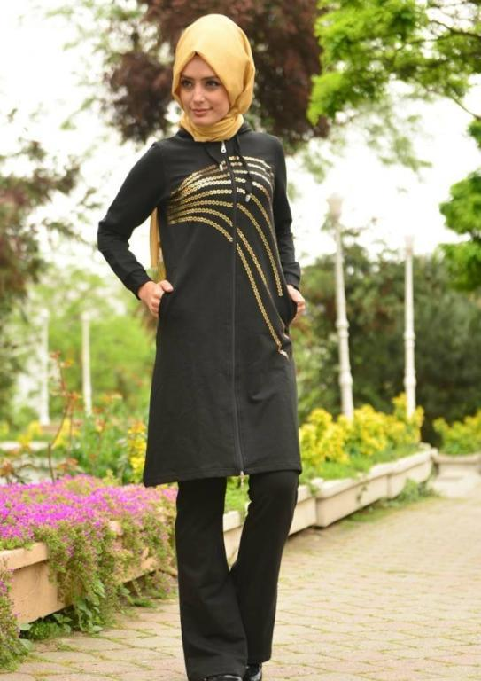 بالصور ملابس رياضية للمحجبات , اطلالات مريحة لملابس محجبات للرياضة 2766 5