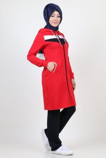 صورة ملابس رياضية للمحجبات , اطلالات مريحة لملابس محجبات للرياضة