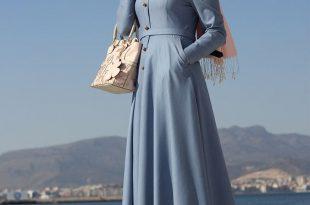 صورة فساتين تركية للمحجبات , اجمل الفساتين للبنات التركية المحجبات