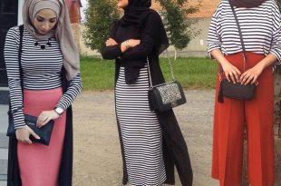 صورة تنسيق الملابس للمحجبات , افكار مختلفة لتنسيق ملابس المحجبات