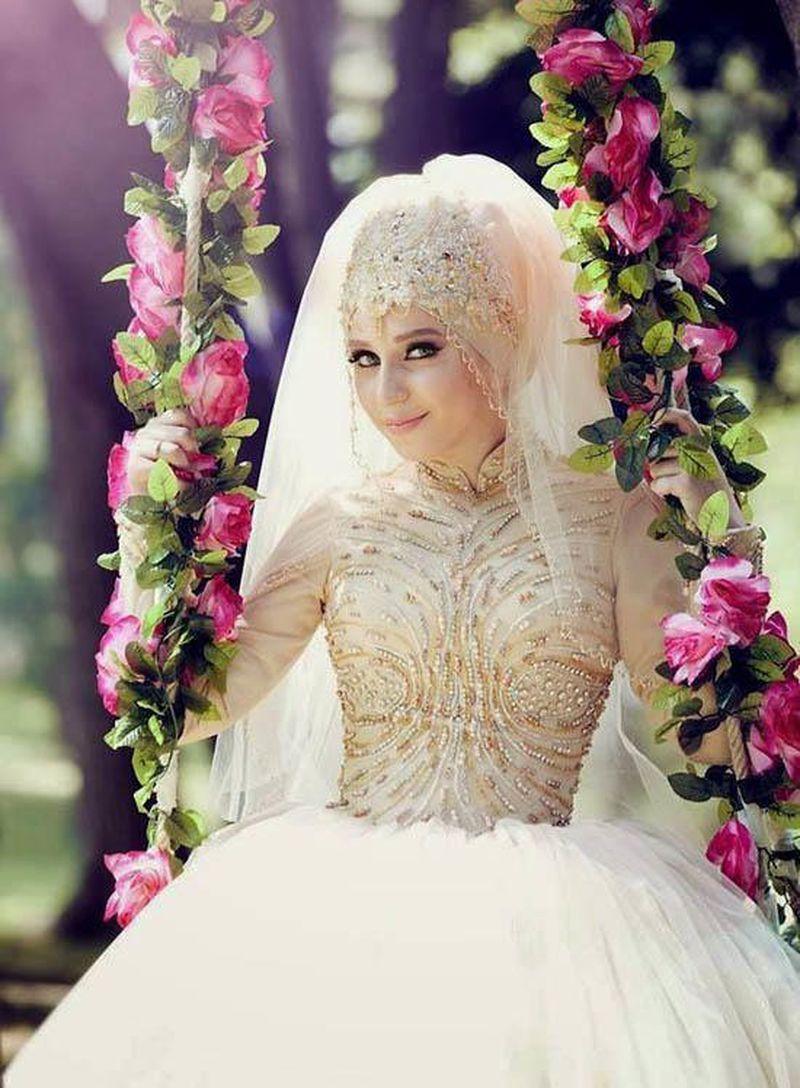 صور فساتين زفاف للمحجبات , احسن تصاميم فساتين