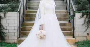 فساتين زفاف للمحجبات , احسن تصاميم فساتين