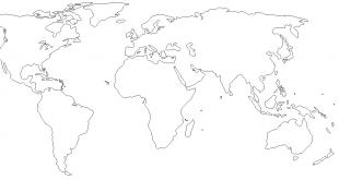 صوره خريطة العالم صماء , اروع خرائط للعالم صماء