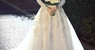 فساتين اعراس للمحجبات , اجمل فستان للعروسة المحجبة