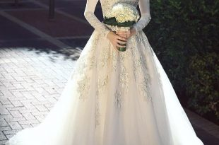صور فساتين اعراس للمحجبات , اجمل فستان للعروسة المحجبة