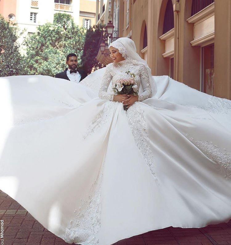 بالصور فساتين اعراس للمحجبات , اجمل فستان للعروسة المحجبة 835 2