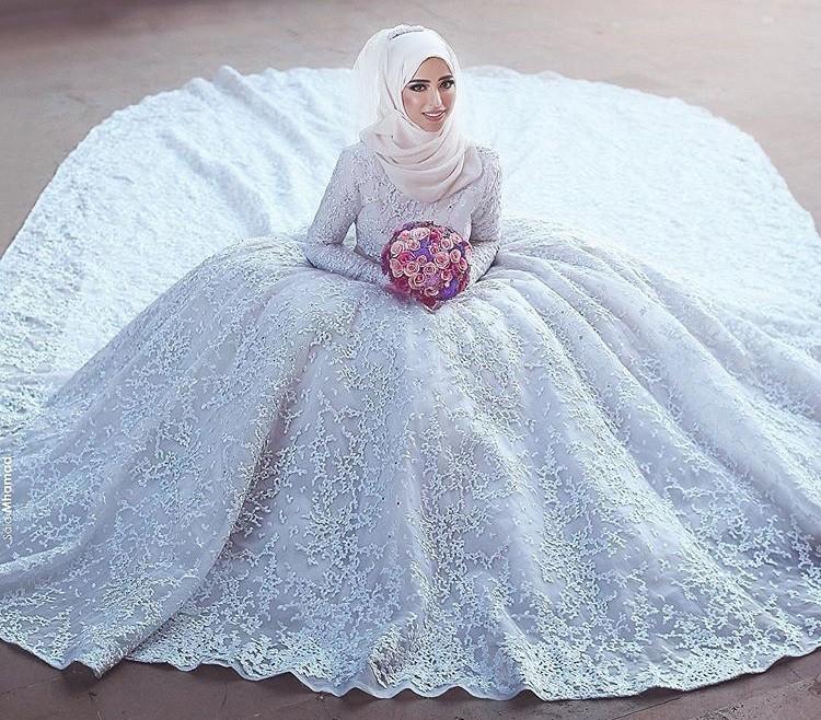 بالصور فساتين اعراس للمحجبات , اجمل فستان للعروسة المحجبة 835 3