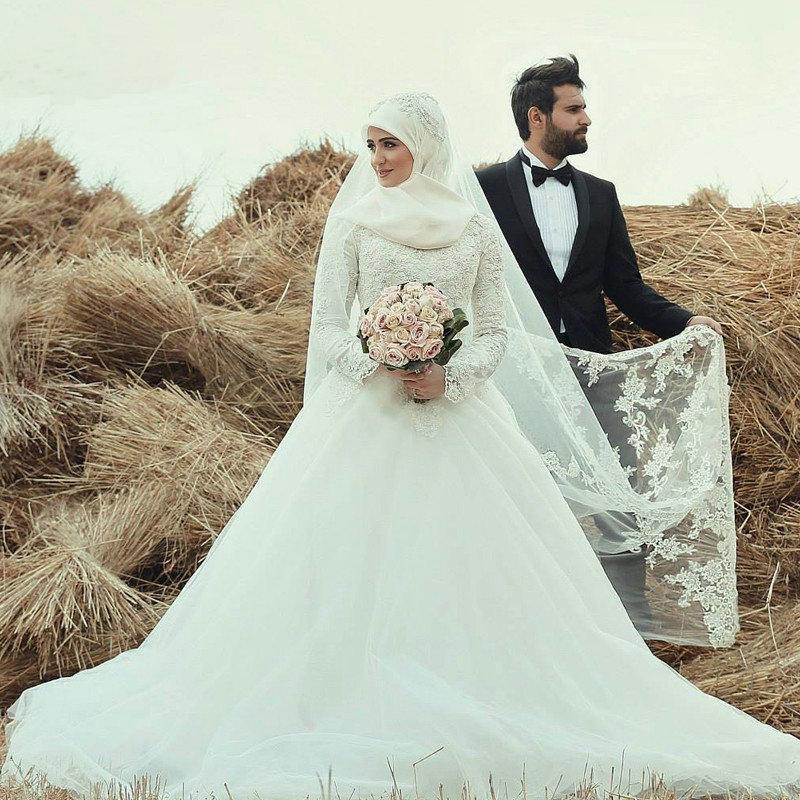 بالصور فساتين اعراس للمحجبات , اجمل فستان للعروسة المحجبة 835 4