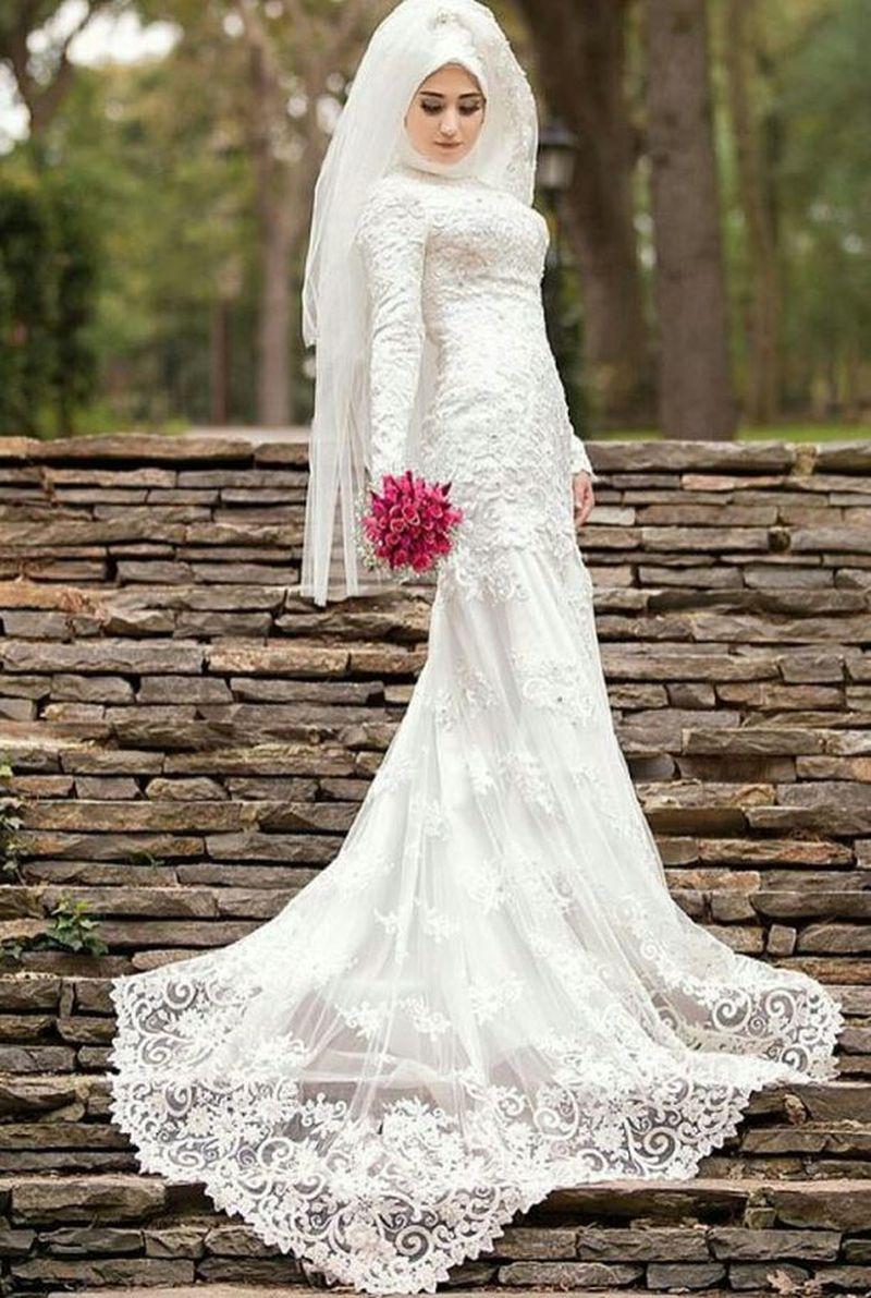 بالصور فساتين اعراس للمحجبات , اجمل فستان للعروسة المحجبة 835 6
