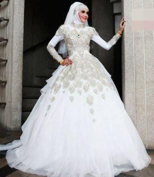 بالصور فساتين اعراس للمحجبات , اجمل فستان للعروسة المحجبة 835 7