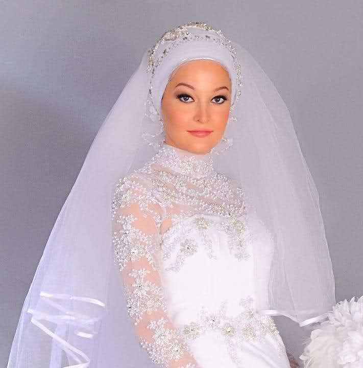 بالصور فساتين اعراس للمحجبات , اجمل فستان للعروسة المحجبة 835 9