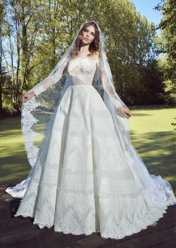 بالصور فساتين زفاف زهير مراد 2019 , فساتين زفاف زهير مراد واجمد فساتين 5814 2