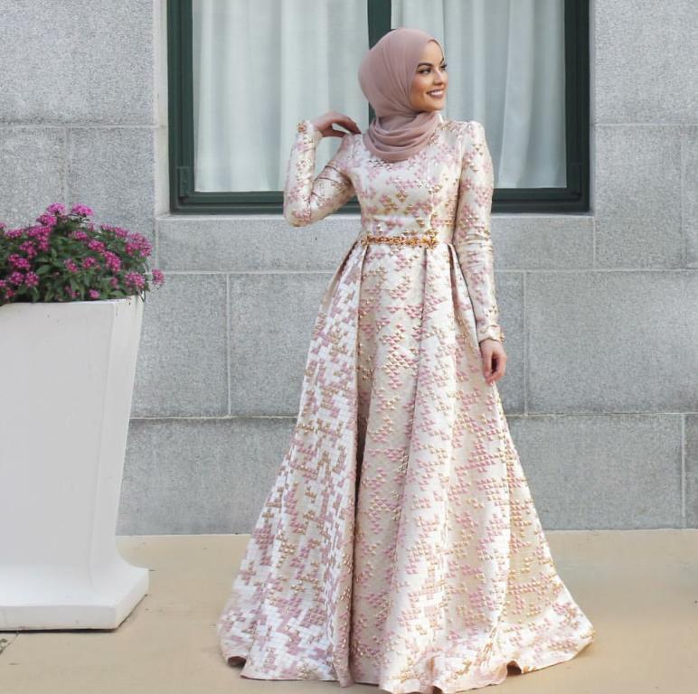 بالصور فساتين للمحجبات , الحجاب واجمل الفساتين 1606 1