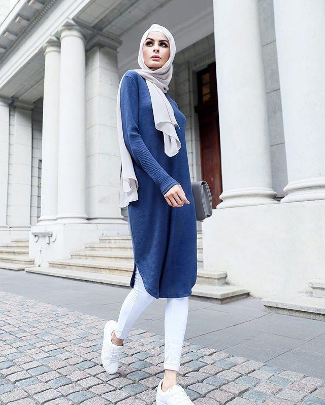 بالصور فساتين للمحجبات , الحجاب واجمل الفساتين 1606 2