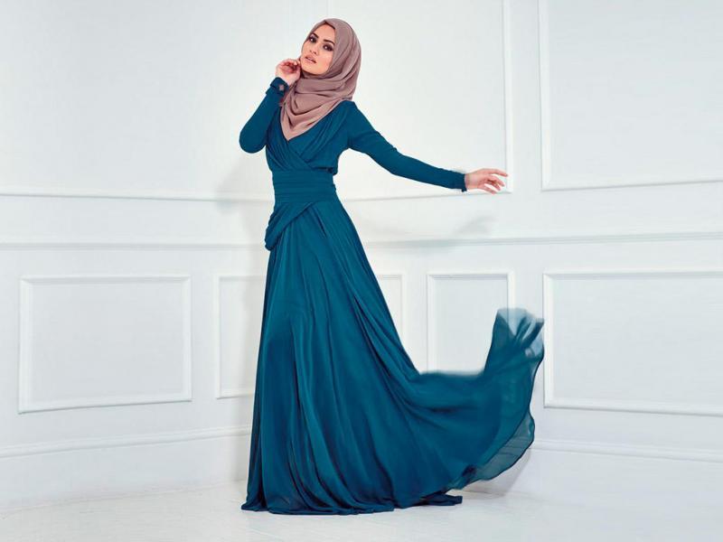 بالصور فساتين للمحجبات , الحجاب واجمل الفساتين 1606 3