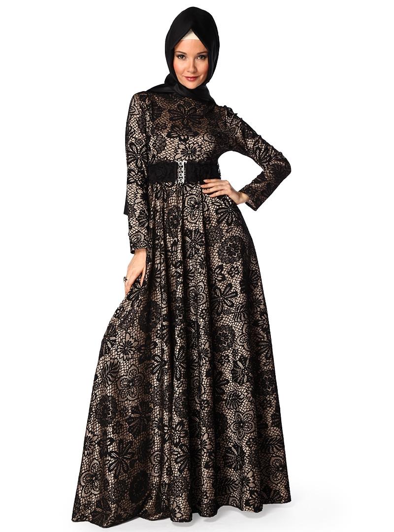 بالصور فساتين للمحجبات , الحجاب واجمل الفساتين 1606 4