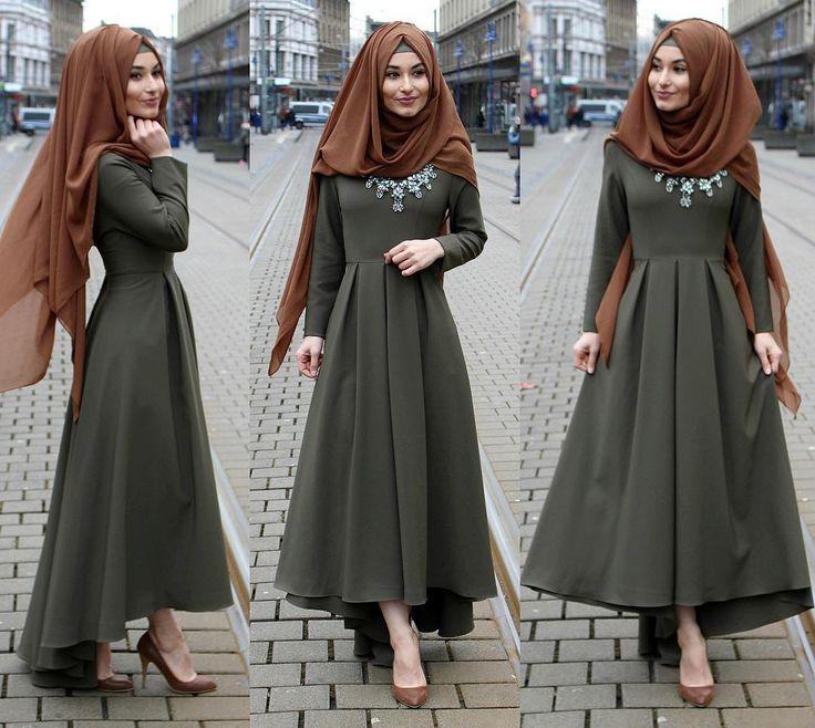 بالصور فساتين للمحجبات , الحجاب واجمل الفساتين 1606 5