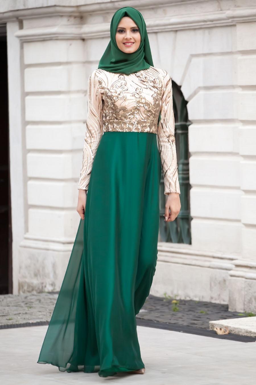 بالصور فساتين للمحجبات , الحجاب واجمل الفساتين 1606 6