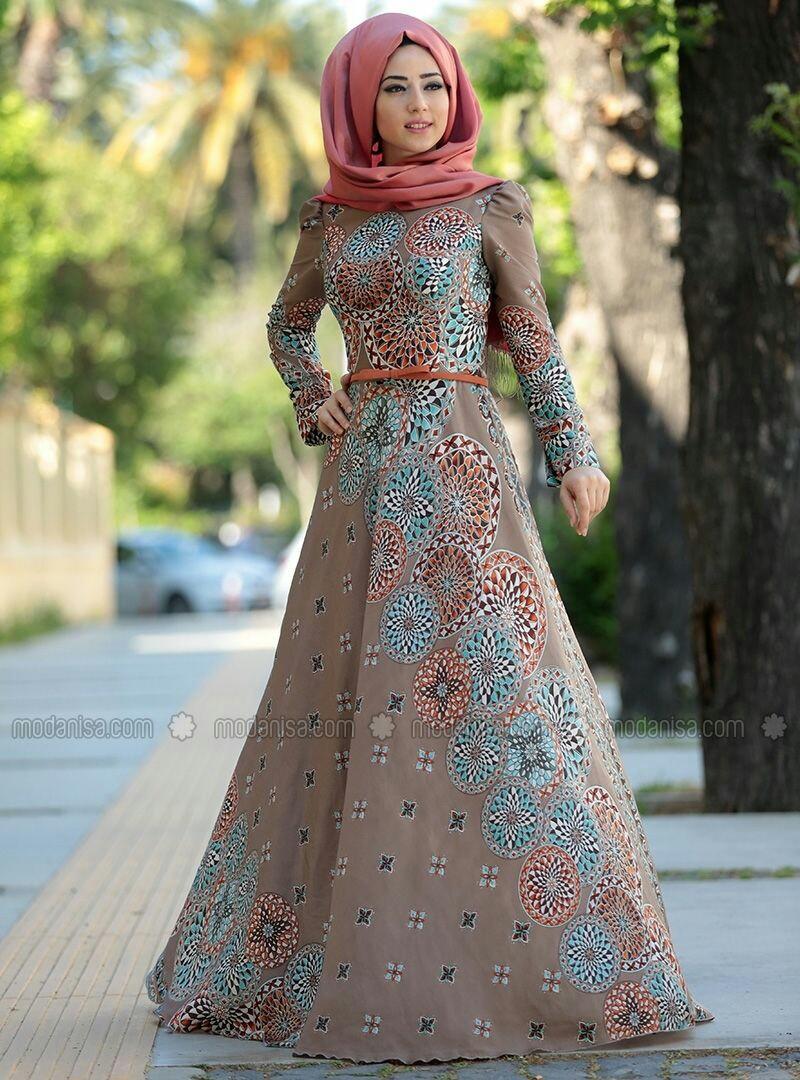 بالصور فساتين للمحجبات , الحجاب واجمل الفساتين 1606 7