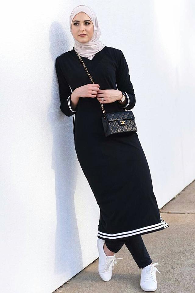 بالصور فساتين للمحجبات , الحجاب واجمل الفساتين 1606