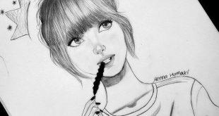 صور رسومات بنات حلوه , فن جميل ان نتمكن من رسومات بنات حلوه