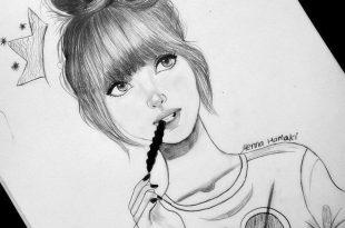 صوره رسومات بنات حلوه , فن جميل ان نتمكن من رسومات بنات حلوه