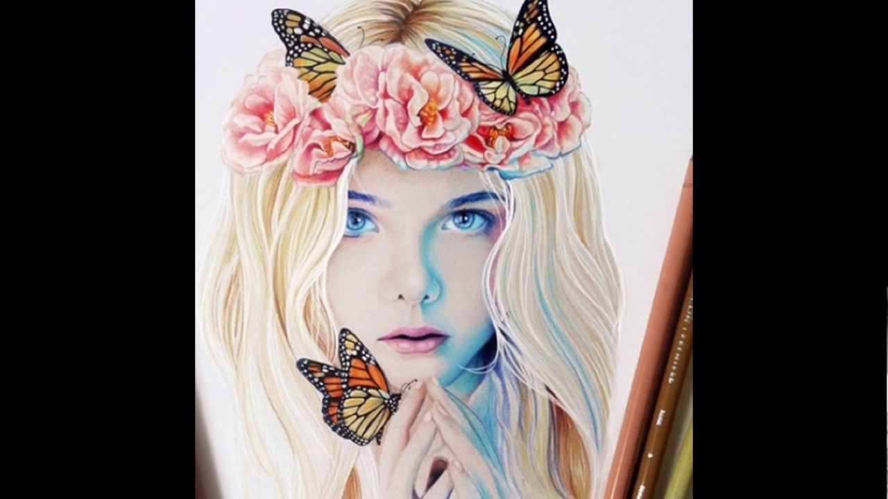 بالصور رسومات بنات حلوه , فن جميل ان نتمكن من رسومات بنات حلوه 1609 8