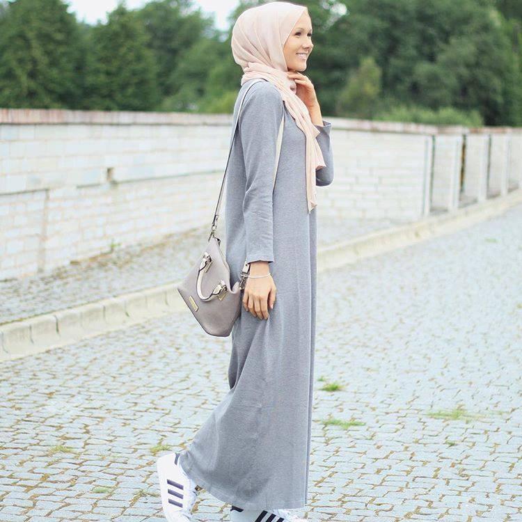 بالصور فساتين طويلة للمحجبات , فستان طويل مناسب للحجاب 5334 10