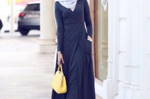 صور فساتين طويلة للمحجبات , فستان طويل مناسب للحجاب