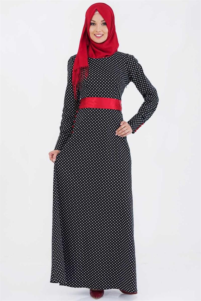 بالصور فساتين طويلة للمحجبات , فستان طويل مناسب للحجاب 5334 2