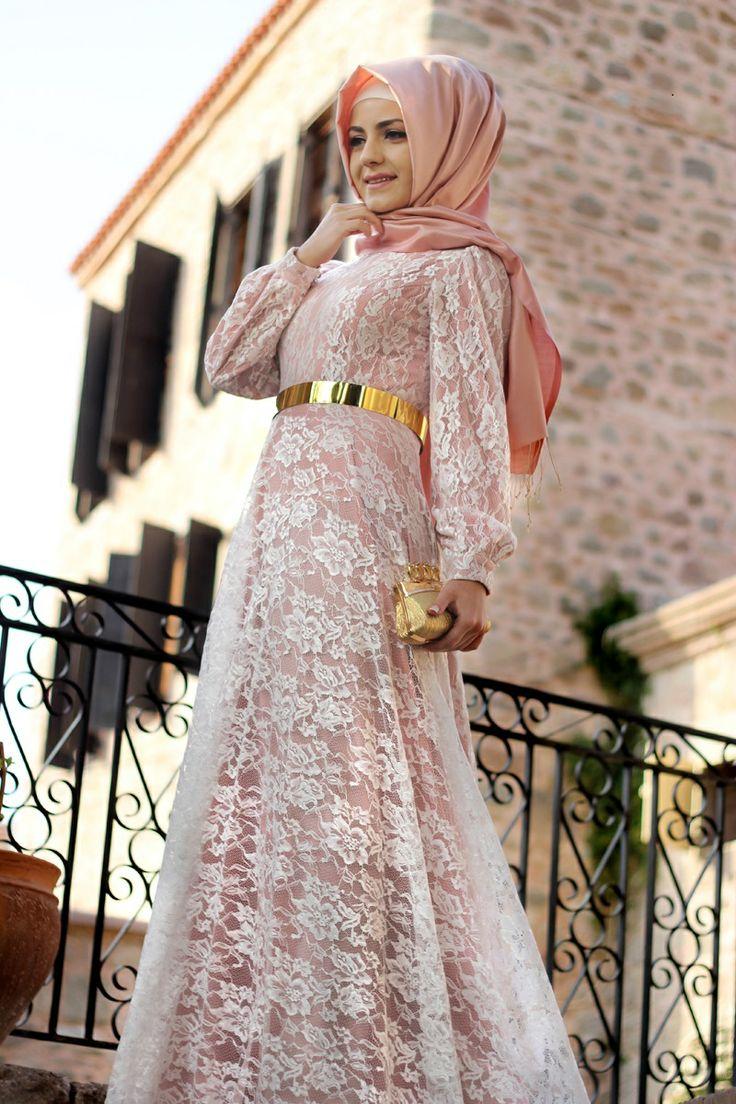 بالصور فساتين طويلة للمحجبات , فستان طويل مناسب للحجاب 5334 4
