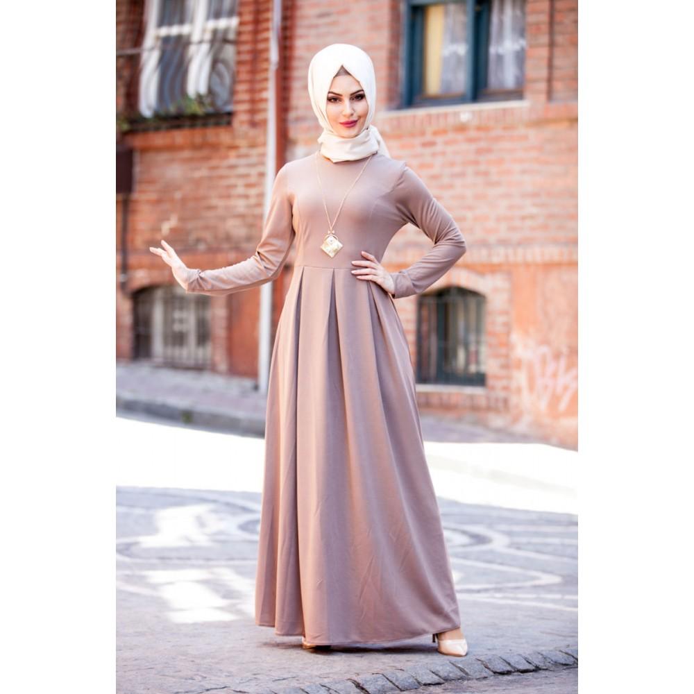 بالصور فساتين طويلة للمحجبات , فستان طويل مناسب للحجاب 5334 5