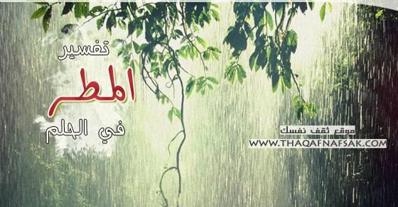 صور المطر في الحلم , ماذا يعني الحلم بالمطر وتفسير هذه الرؤية