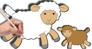 صورة رسم خروف العيد , كيف ترسم خروف كاريكاتير