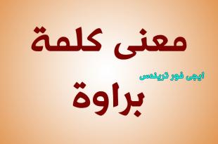 بالصور معنى كلمة براوة , الفرق بين براوة وبراو 11910 1 310x205