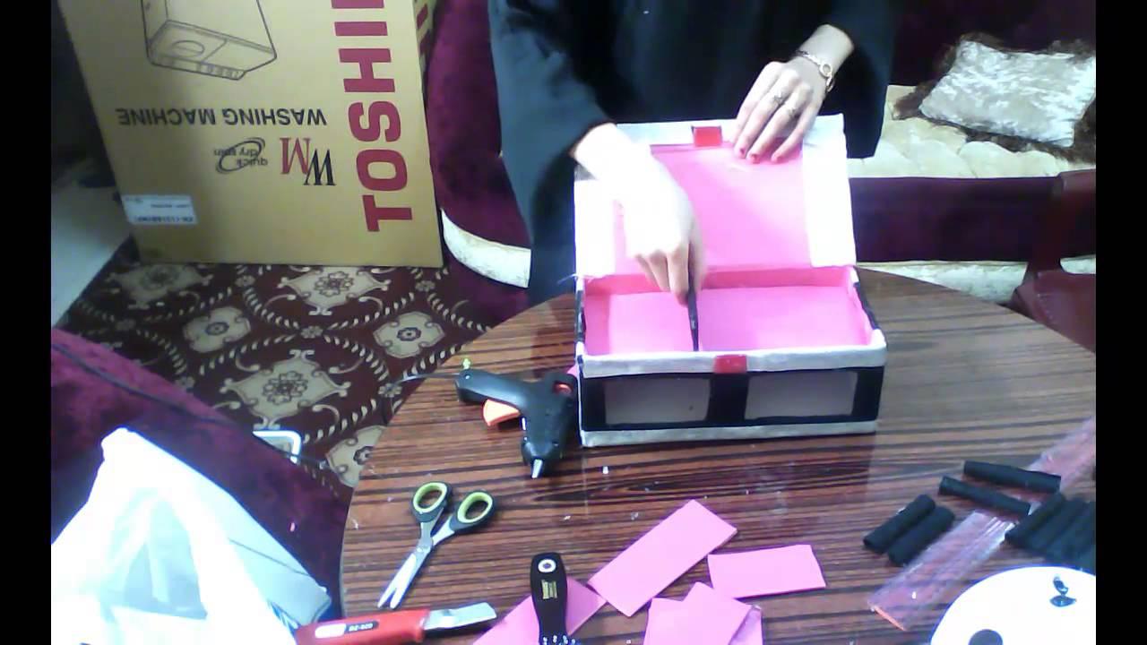 صور طريقة عمل علبة اكسسوارات , ادوات بسيطة لصنع علبة اكسسوارات