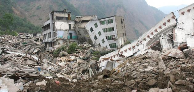 صورة بحث عن الزلازل قصير , كوارث طبيعية منها الزلازل