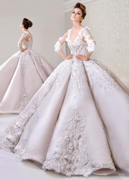 صور تصاميم فساتين زفاف , احلى فساتين الزفاف الرائعة واشيك التصاميم