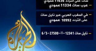 صور تردد قناة الجزيرة عربسات , لمعرفة التردد الخاص بقناة الجزيرة على قمر عربسات