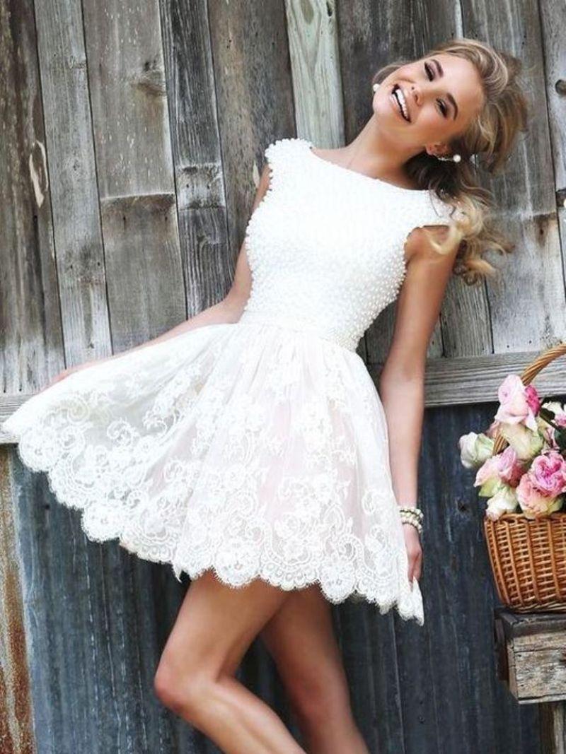 صورة فساتين اعراس قصيرة للمراهقات , احلي و اجمل فساتين اعراس قصيرة للمراهقات
