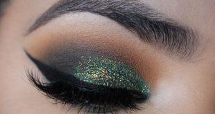 صورة مكياج عيون باللون الاخضر , احلي ميكب عيون باللون الاخضر