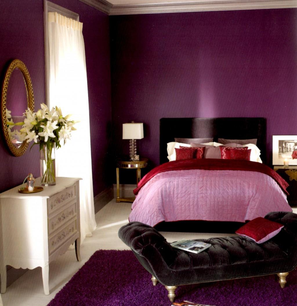 صورة غرف نوم باللون البنفسجي , اشكال موديلات غرف نوم باللون البنفسجي 12177 2