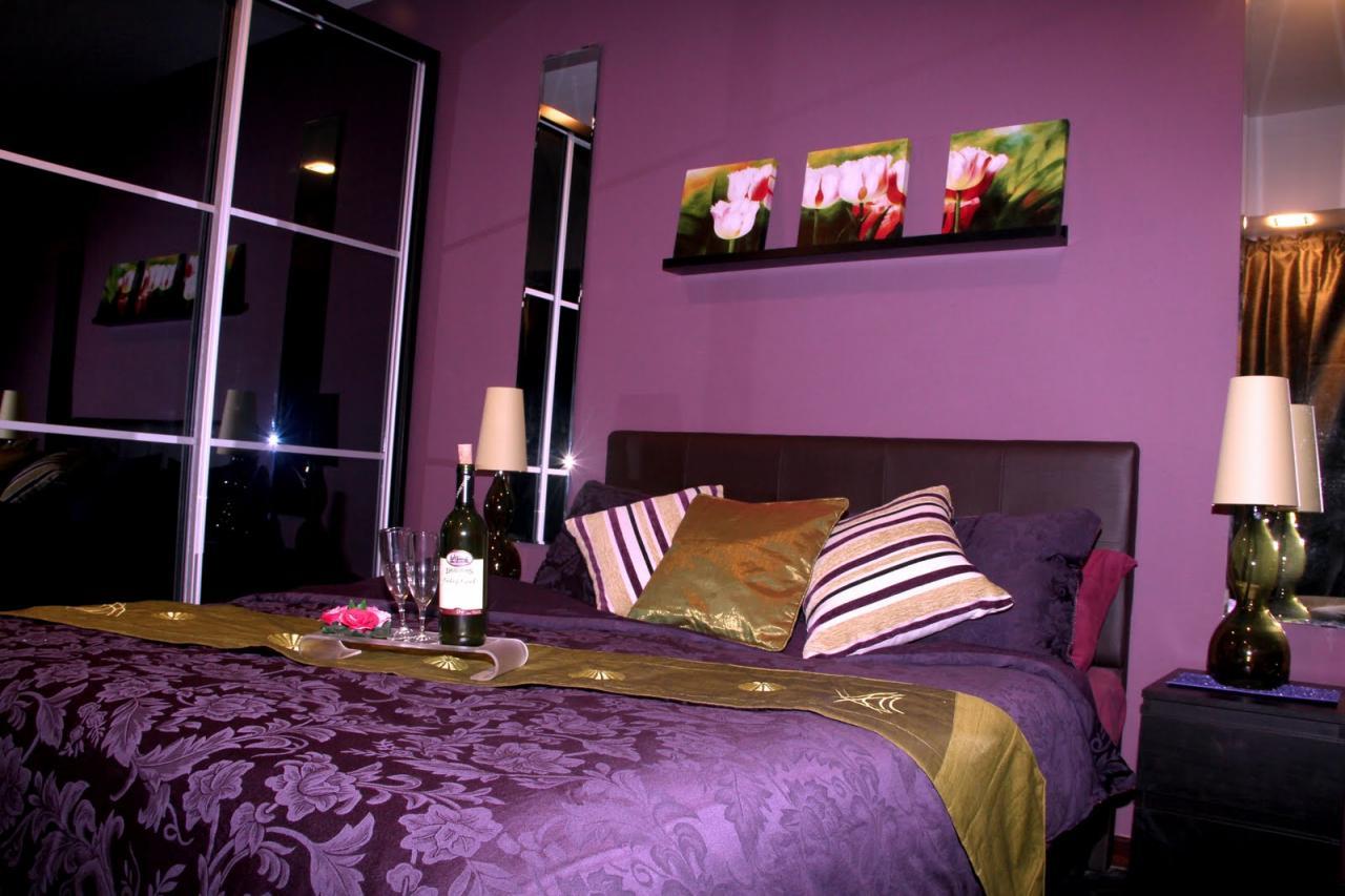 صورة غرف نوم باللون البنفسجي , اشكال موديلات غرف نوم باللون البنفسجي 12177 3