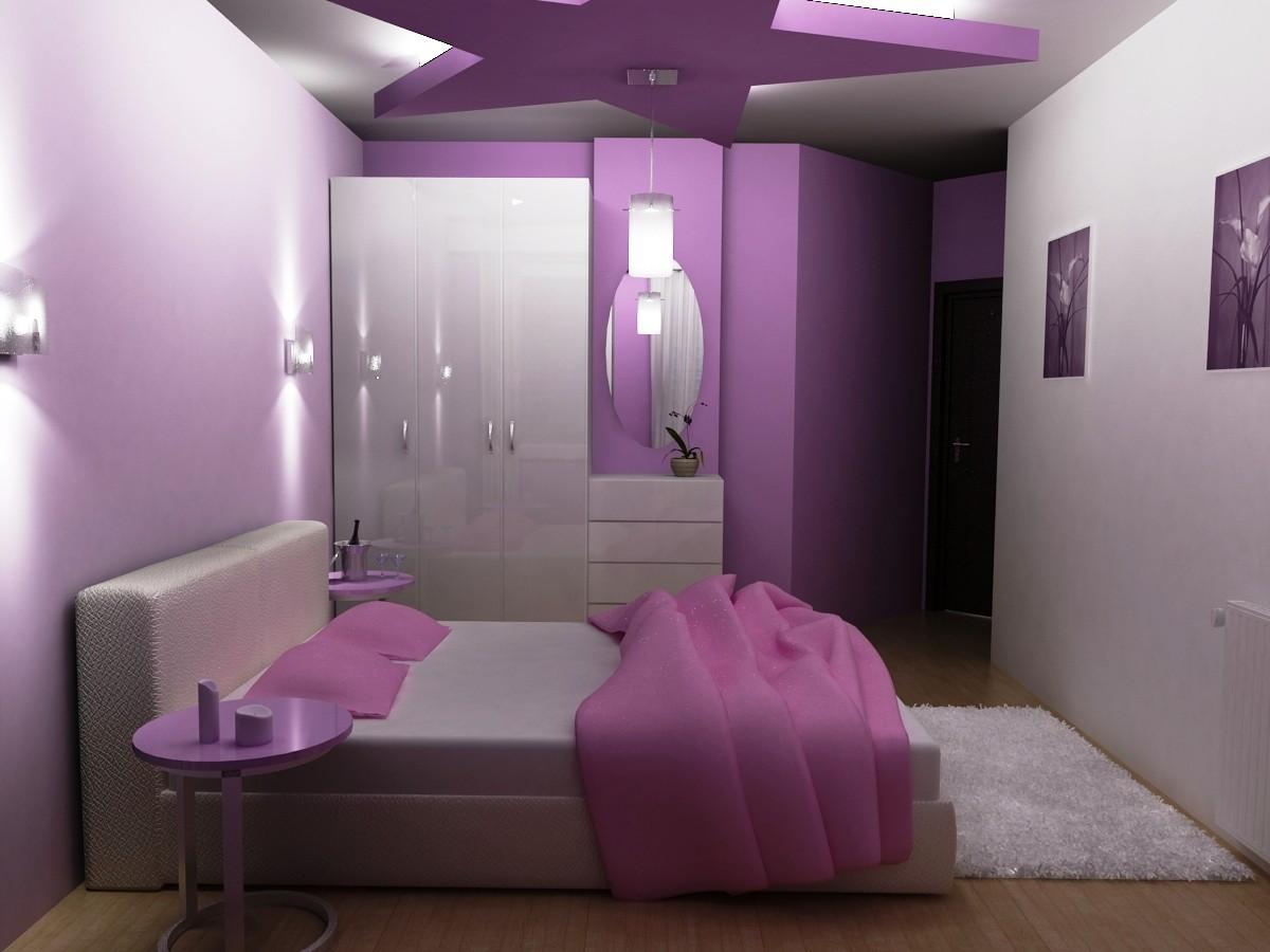 صورة غرف نوم باللون البنفسجي , اشكال موديلات غرف نوم باللون البنفسجي 12177 4