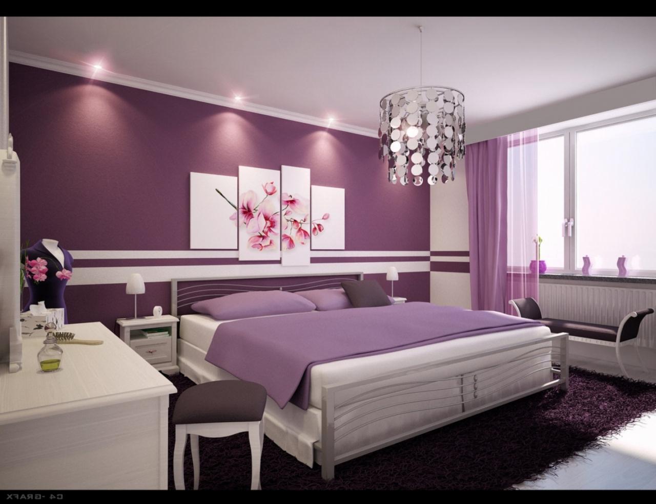 صورة غرف نوم باللون البنفسجي , اشكال موديلات غرف نوم باللون البنفسجي 12177 9
